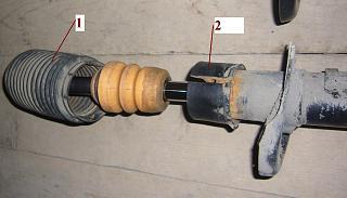 Замена переднего левого амортизатора